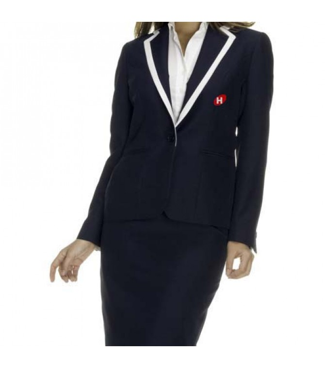 stylish blazer for receptionist